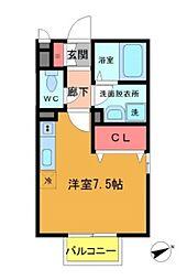 千葉県船橋市印内町の賃貸アパートの間取り