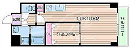 北大阪急行電鉄 緑地公園駅 徒歩7分の賃貸マンション 6階1LDKの間取り