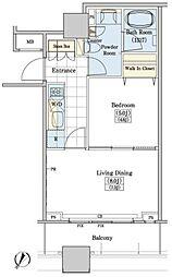 レジディアタワー上池袋 タワー棟 11階1LDKの間取り