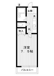 東京都練馬区豊玉北2丁目の賃貸アパートの間取り