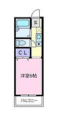 セジュールF B棟[2階]の間取り