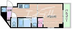 JR東海道・山陽本線 吹田駅 徒歩7分の賃貸マンション 6階1Kの間取り