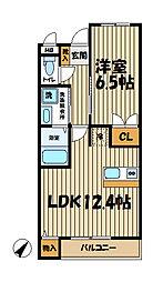 ソワール鎌倉[101号室]の間取り