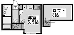 ハーミットクラブハウス宿河原[2階]の間取り