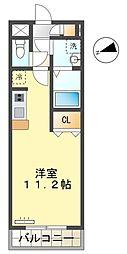 名鉄豊田線 三好ヶ丘駅 徒歩2分の賃貸マンション 3階ワンルームの間取り