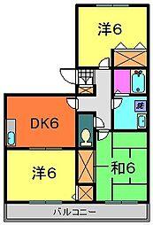 千葉県市川市妙典2丁目の賃貸アパートの間取り