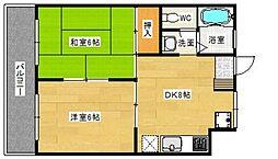 貞方第2ビル[3階]の間取り