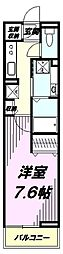 JR中央線 豊田駅 徒歩7分の賃貸アパート 3階1Kの間取り