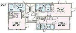 JR中央線 阿佐ヶ谷駅 徒歩13分の賃貸マンション 2階ワンルームの間取り