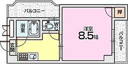 ロータリーマンション出口[6階]の間取り