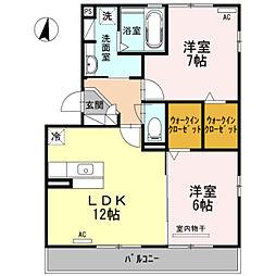 ヒルズ山神戸[2階]の間取り