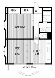 東京都練馬区桜台1丁目の賃貸マンションの間取り