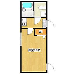 JR総武線 小岩駅 徒歩6分の賃貸アパート 1階1Kの間取り