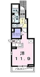 ラ・ルーチェ[1階]の間取り