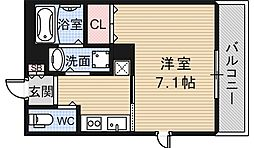 大阪府大阪市阿倍野区相生通2丁目の賃貸アパートの間取り