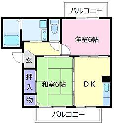 くすの木ハイツ[2階]の間取り