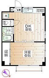 ハイツフォーレスト[2階]の間取り