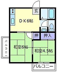 甲陽苑[2階]の間取り