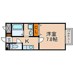 滋賀県長浜市北船町の賃貸マンションの間取り