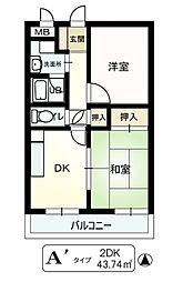 ストーク利倉[3階]の間取り