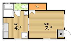 ミントハイツII[1階]の間取り