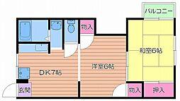 都島電化ハイツ[3階]の間取り