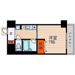 滋賀県彦根市竹ケ鼻町の賃貸マンションの間取り