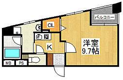 G−ONEMUROMI STATION[601号室]の間取り