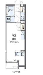 JR東北本線 蓮田駅 徒歩15分の賃貸アパート 2階ワンルームの間取り