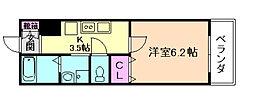 みおつくし都島[9階]の間取り