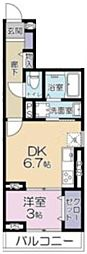 (仮称)大宮区吉敷町3丁目project 3階1DKの間取り