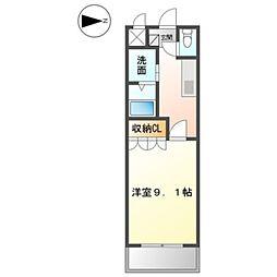 名鉄三河線 豊田市駅 バス15分 汐見町下車 徒歩10分の賃貸アパート 2階1Kの間取り