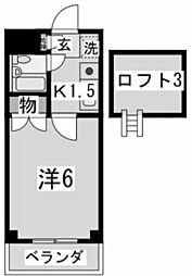 神奈川県川崎市多摩区生田2丁目の賃貸マンションの間取り