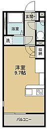 西武拝島線 小川駅 徒歩19分の賃貸アパート 1階ワンルームの間取り