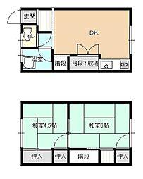 [タウンハウス] 福岡県大野城市中央1丁目 の賃貸【/】の間取り