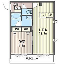 仮)中野区鷺宮5丁目シャーメゾン 3階1LDKの間取り