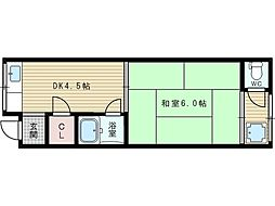 平川文化[2階]の間取り