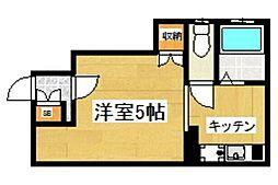 西武新宿線 野方駅 徒歩9分の賃貸アパート 1階1Kの間取り