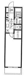 新京成電鉄 前原駅 徒歩4分の賃貸アパート 1階1Kの間取り