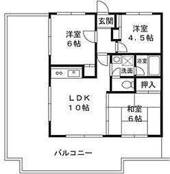 ドエルエクセレントミナーレ[2階]の間取り