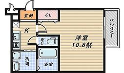 セジュール白鷺1[2階]の間取り
