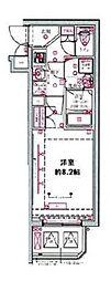 都営三田線 西台駅 徒歩10分の賃貸マンション 2階1Kの間取り
