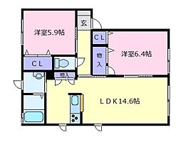 ブランメゾン[2階]の間取り