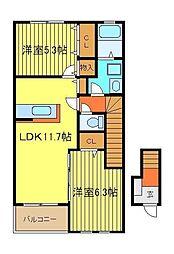 粋明館[2階]の間取り
