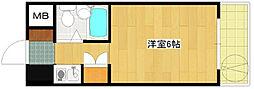 第52新井ビル[303号室]の間取り