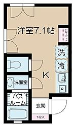 東京都渋谷区元代々木町の賃貸アパートの間取り