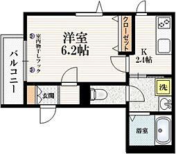 (仮称)東十条3丁目メゾン 3階1Kの間取り