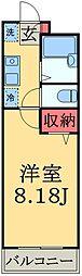 千葉県千葉市中央区春日2丁目の賃貸マンションの間取り