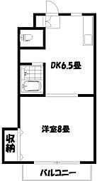 第10島田マンション[2階]の間取り