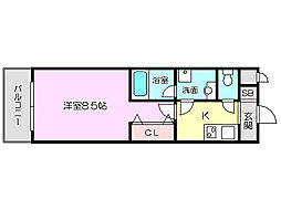 リバースクウェア103[6階]の間取り